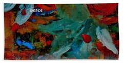 Beach Towel featuring the painting Peace by Lisa Kaiser