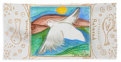 Beach Sheet featuring the painting Peace Of Heaven by Cassie Sears