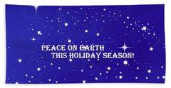 Peace On Earth Card Beach Towel by Kathy Barney