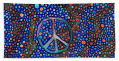 Peace Sign Beach Towel by Janice Dunbar