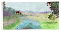 Beach Towel featuring the painting Peaceful Day by C Sitton