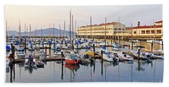 Beach Sheet featuring the photograph Peaceful Marina by Kate Brown