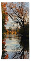 Peaceful October Afternoon Beach Towel