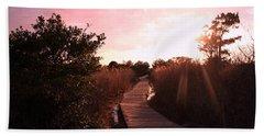 Beach Towel featuring the photograph Peaceful Path by Karen Silvestri