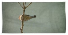 Peaceful Perch Beach Towel by Meghan at FireBonnet Art
