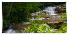 Beach Towel featuring the photograph Peaceful Stockbridge Falls  by Dave Files