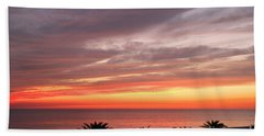 Peaceful Sunset Beach Towel by Mariarosa Rockefeller