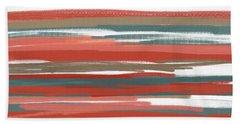 Peach And Neutrals Beach Towel by Lourry Legarde