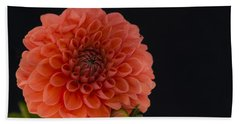 Peach Dahlia Beach Towel