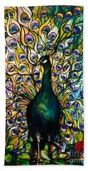 Peacock Beach Towel by American School