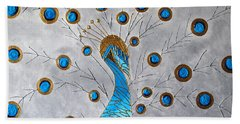 Peacock And Its Beauty Beach Sheet
