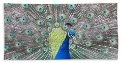 Beach Towel featuring the photograph Peacock by Caryl J Bohn