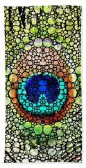 Peacock Feather - Stone Rock'd Art By Sharon Cummings Beach Towel