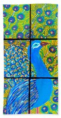 Peacock Ix Beach Towel