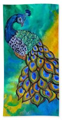 Peacock Waltz II Beach Towel