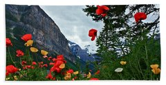 Peaks And Poppies Beach Towel