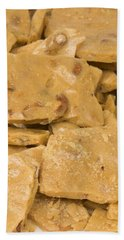 Peanut Brittle Closeup Beach Sheet