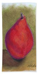 Pear Study 3 Beach Sheet by Marna Edwards Flavell