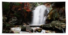 Peavine Falls In Autumn Beach Towel by Shelby  Young