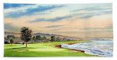 Pebble Beach Golf Course 18th Hole Beach Towel