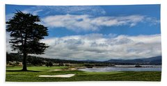 Pebble Beach - The 18th Hole Beach Towel