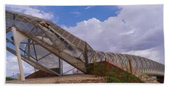 Pedestrian Bridge Over A River, Snake Beach Towel by Panoramic Images