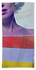 Peek A Boo Marilyn  Monroe Beach Towel