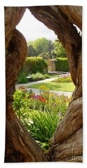 Peek At The Garden Beach Towel by Vicki Spindler
