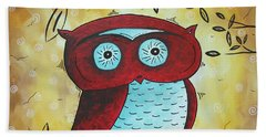 Peekaboo By Madart Beach Towel