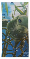 Beach Towel featuring the painting Peepers by Dianna Lewis