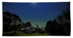 Beach Towel featuring the photograph Pegasus And Moon by Greg Reed