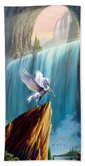Pegasus Kingdom Beach Towel by Garry Walton
