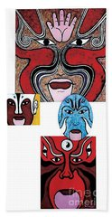 Beach Towel featuring the painting Peking Opera No.1 by Fei A