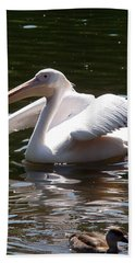 Pelican And Friend Beach Sheet