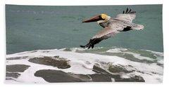 Pelican Flying Beach Sheet