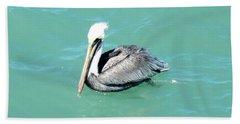 Beach Towel featuring the photograph Pelican by Oksana Semenchenko