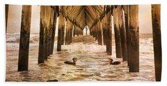Pelican Paradise Beach Towel by Betsy Knapp