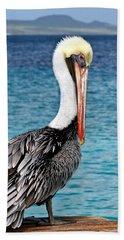 Pelican Portrait Beach Towel