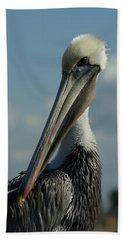 Pelican Profile Beach Towel