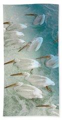 Pellican Frenzy Beach Towel by Stuart Turnbull