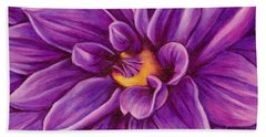 Pencil Dahlia Beach Towel by Janice Dunbar