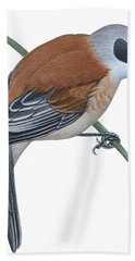 Penduline Tit  Beach Towel
