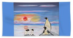 Penguin Family Beach Towel