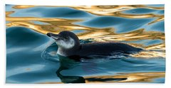 Penguin Watercolor 2 Beach Towel