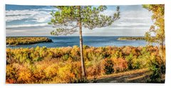 Peninsula State Park Scenic Overlook Panorama Beach Towel