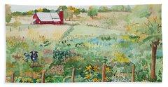 Pennsylvania Pasture Beach Towel by Christine Lathrop