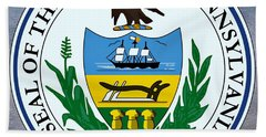 Pennsylvania State Seal Beach Towel