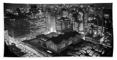 Pennsylvania Station At Night Beach Towel