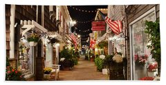 Penny Lane At Night - Rehoboth Beach Delaware Beach Towel