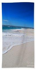 Beach Sheet featuring the photograph Pensacola Peir by Linda Mesibov